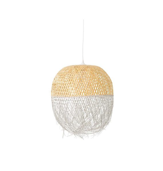 Suspension en osier bloomingville gallartdeco for Luminaire suspension osier