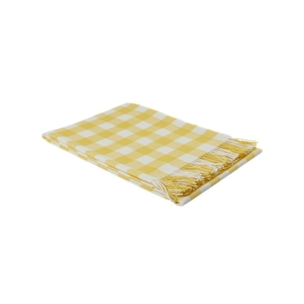 PLAID A CARREAUX JAUNE