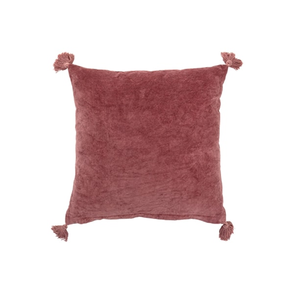 coussin velours rose poudre bloomingville