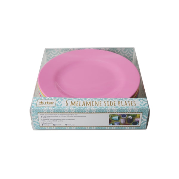set de 6 assiettes colorfun rice